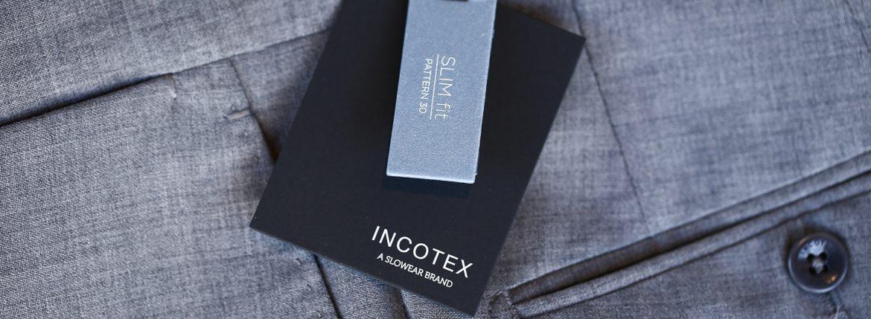 INCOTEX (インコテックス) 1NT035 N35型 SLIM FIT スリムフィット SUPER 100'S YARN DYED TROPICAL トロピカルウール サマーウール スラックス GRAY (グレー・905) 2017 春夏新作のイメージ