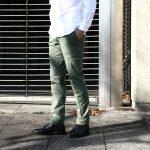 J.W.BRINE (J.W.ブライン) NEW DRAKE ニュードレイク ストレッチチノ スリムカーゴパンツ OLIVE (オリーブ・55) MADE IN ITALY (イタリア製) 2017 春夏新作のイメージ