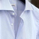 ALESSANDRO GHERARDI (アレッサンドロゲラルディ) Stripe Shirts カッタウェイ コットンブロード ストライプシャツ NAVY (ネイビー・681) made in italy(イタリア製) 2017 春夏新作のイメージ