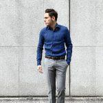 【ALESSANDRO GHERARDI / アレッサンドロゲラルディ】 Linen Shirts カッタウェイ リネンシャツ NAVY (ネイビー・669) made in italy(イタリア製) 2017 春夏新作のイメージ