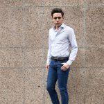 【ALESSANDRO GHERARDI / アレッサンドロゲラルディ】 Stripe Shirts カッタウェイ コットンブロード ストライプシャツ NAVY (ネイビー・681) made in italy(イタリア製) 2017 春夏新作のイメージ