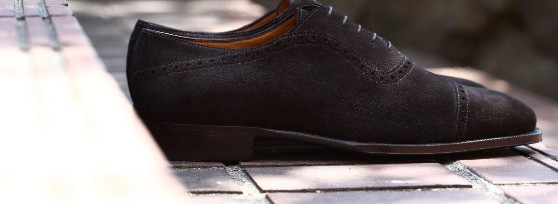 ENZO BONAFE (エンツォボナフェ) 【ART.3513】 Punched  Cap Toe Shoes パンチドトゥキャップシューズ Superbuck スーパーバック ドレスシューズ CAFE (カフェ) made in italy (イタリア製) 2017 春夏新作のイメージ