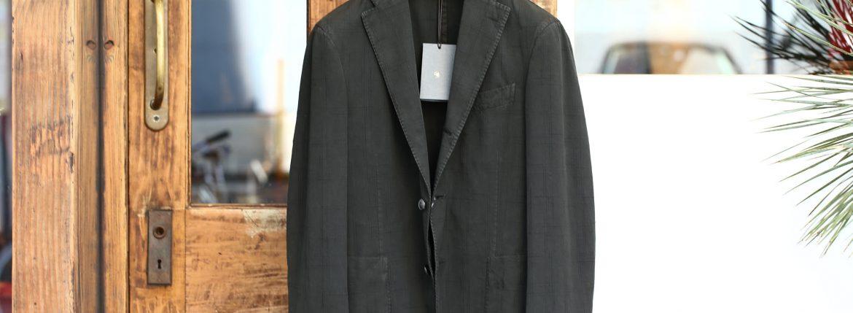 BOGLIOLI MILANO (ボリオリ ミラノ) K.JACKET (Kジャケット) コットンチェック アンコンジャケット 3Bジャケット OLIVE (オリーブ・59) Made in italy (イタリア製) 2017 春夏新作のイメージ