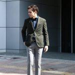 【BOGLIOLI MILANO / ボリオリ ミラノ】 【K.JACKET / Kジャケット】 コットンチェック アンコンジャケット 3Bジャケット OLIVE (オリーブ・59) Made in italy (イタリア製) 2017 春夏新作のイメージ