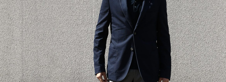 【BOGLIOLI MILANO / ボリオリ ミラノ】 【CASATI / カサーティ】 コットン アンコンジャケット 2Bジャケット NAVY (ネイビー・78)  Made in italy (イタリア製) 2017 春夏新作のイメージ