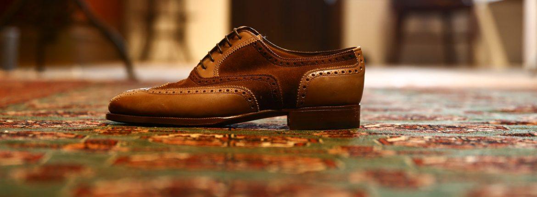 ENZO BONAFE (エンツォボナフェ) 【ART.1968】Wing Tip Shoes ウィングチップシューズ カーフレザー×スーパーバック 2tone 2トーン ドレスシューズ ANTICATO×SNUFF(ブラウン×ブラウン) made in italy (イタリア製)のイメージ