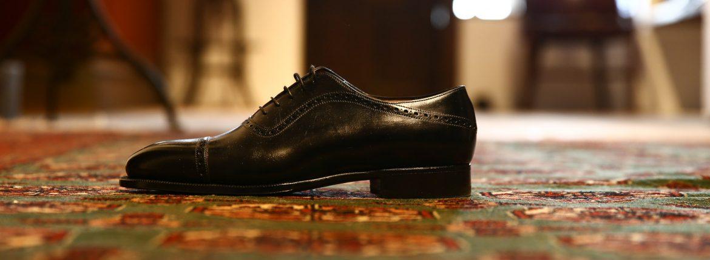 ENZO BONAFE (エンツォボナフェ) 【3513】Punched Cap Toe Shoes パンチドトゥキャップシューズ VITELLO ドレスシューズ NERO(ブラック) made in italy (イタリア製)のイメージ