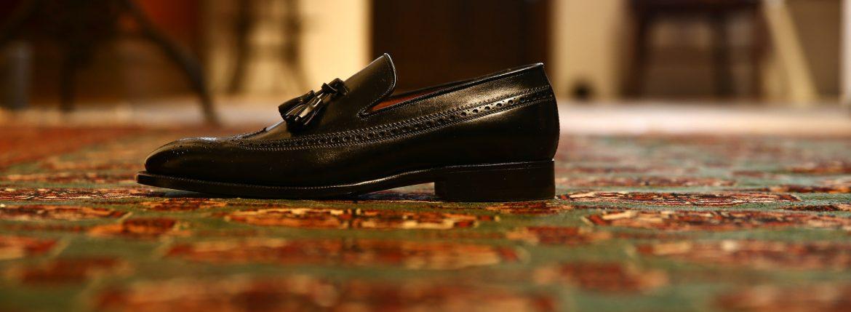 ENZO BONAFE (エンツォボナフェ) 【3933】Wing Tip TasselShoes ウィングチップタッセルシューズ VITELLO ドレスシューズ NERO(ブラック) made in italy (イタリア製)のイメージ