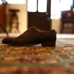 ENZO BONAFE (エンツォボナフェ) 【ART.EB-01】 Punched Cap Toe Shoes パンチドトゥキャップシューズ Superbuck ドレスシューズ CAFE (カフェ) made in italy (イタリア製)のイメージ