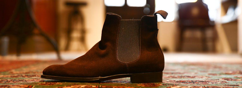 ENZO BONAFE (エンツォボナフェ) 【ART.EB-04】 Side Gore Boots サイドゴアブーツ Superbuck スエード ブーツ HOLBORN (ダークブラウン) made in italy (イタリア製)のイメージ