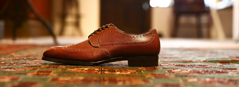ENZO BONAFE (エンツォボナフェ) 【ART.EB-05】 Wing tip Shoes ウィングチップシューズ INCA 6127 ドレスシューズ レザーシューズ LIGHT BROWN (ライトブラウン) made in italy (イタリア製)のイメージ