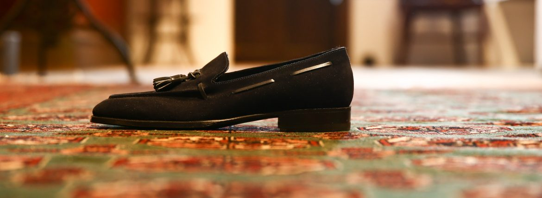 ENZO BONAFE (エンツォボナフェ) 【ART.EB-07】 Tassel Loafer タッセルローファー SUPERBUCK スエード タッセル ローファー NAVY (ネイビー) made in italy (イタリア製)のイメージ