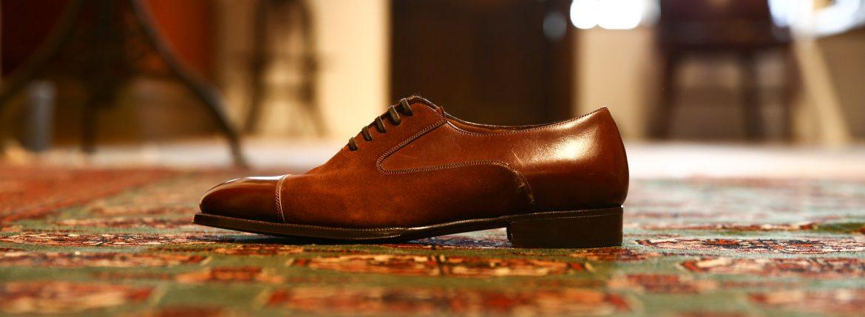 ENZO BONAFE (エンツォボナフェ) 【ART.EB-17】Straight Tip Shoes ストレートチップシューズ ANILVEAU×SUPERBUCK 2tone 2トーン ドレスシューズ MEXICANA×PLO BROWN(ブラウン×ブラウン) made in italy (イタリア製)のイメージ