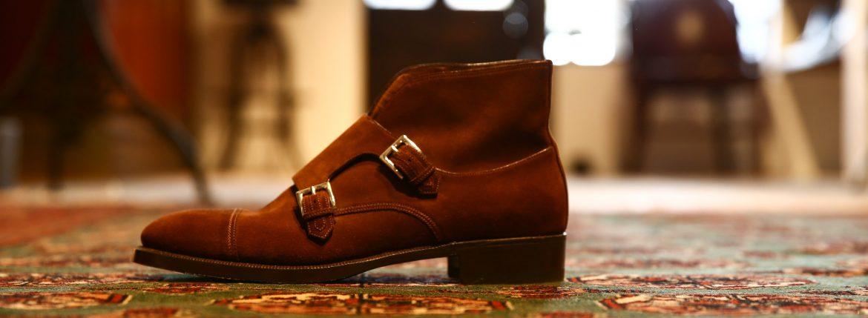ENZO BONAFE (エンツォボナフェ) 【ART.EB-18】Double Monk Strap Boots ダブルモンクストラップブーツ SUPERBUCK ドレスシューズ ダブルモンクチャッカブーツ SNUFF(ブラウン) made in italy (イタリア製)のイメージ