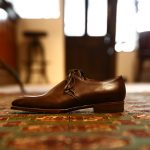 ENZO BONAFE (エンツォボナフェ) 【ART.EB-23】One Eyelet Shoes ワンアイレットシューズ VITELLO ドレスシューズ MELEZE(ブラウン) made in italy (イタリア製)のイメージ