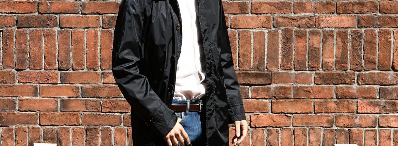 【Sealup / シーラップ】 【Soutien Collar Coat / ステンカラーコート】 S11278 9683 ロング ナイロンコート NAVY (ネイビー・01) MADE IN ITALY(イタリア製) 2017 春夏新作のイメージ