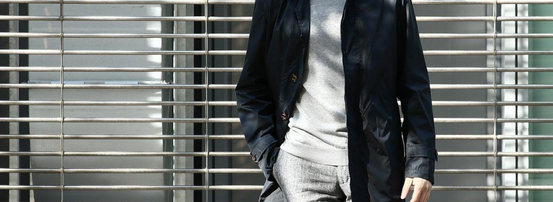 【Sealup / シーラップ】 Soutien Collar Coat ステンカラーコート S11278 9683 ロング ナイロンコート NAVY (ネイビー・01) MADE IN ITALY(イタリア製) 2017 春夏新作のイメージ