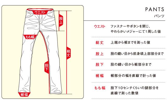 パンツのサイズ