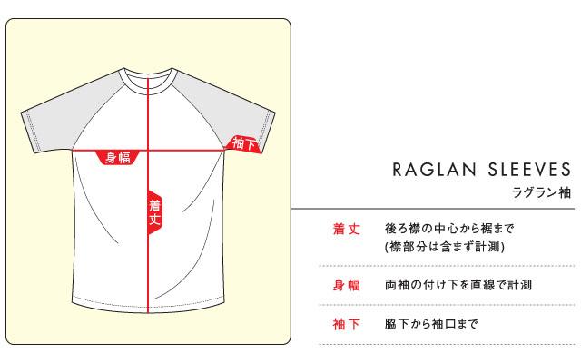 ラグラン袖のサイズ