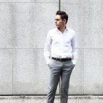 ALESSANDRO GHERARDI (アレッサンドロゲラルディ) Dress Shirts カッタウェイ コットンブロード ドレスシャツ WHITE (ホワイト・000) made in italy(イタリア製) 2017 春夏新作のイメージ