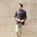 BOGLIOLI MILANO (ボリオリ ミラノ) K.JACKET (Kジャケット) 【FABRIC / Cotton 79%,Linen 21%】コットンリネン アンコンジャケット 2Bジャケット BROWN (ブラウン・06) Made in italy (イタリア製) 2017 春夏新作のイメージ