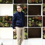 【BOGLIOLI MILANO /// ボリオリ ミラノ】 36803 BLOUSON (レザーブルゾン) スウェードレザー レザージャケット NAVY (ネイビー・78) Made in italy (イタリア製) 2017 春夏新作のイメージ