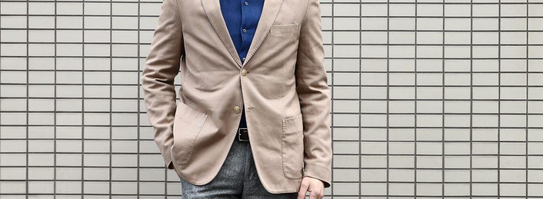 BOGLIOLI MILANO (ボリオリ ミラノ) CASATI (カサーティ) 【FABRIC / Cotton 100%】コットン アンコンジャケット 2Bジャケット BEIGE (ベージュ・32) Made in italy (イタリア製) 2017 春夏新作のイメージ