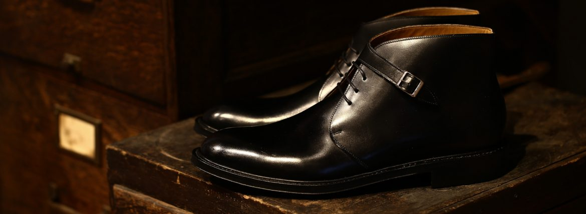 Cuervo (クエルボ) 【2017 AW NEW MODEL】 【Derringer / デリンジャー】 Annonay Vocalou Calf Leather Goodyear Welt Process Double Leather Sole  BLACK MADE IN JAPAN【2nd sample】のイメージ