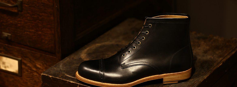 Cuervo (クエルボ) 【2017 AW NEW MODEL】 【Romeo / ロメオ】 Bridle Leather ブライドルレザー Goodyear Welt Process グッドイヤーウェルト製法 Double Leather Sole ダブルレザーソール セミドレスブーツ レザーブーツ ドレスシューズ BLACK (ブラック・BK) MADE IN JAPAN(日本製) 【2nd sample】のイメージ