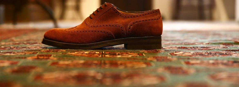 ENZO BONAFE (エンツォボナフェ) 【3571】Wing Tip Suede Shoes ウィングチップスエードシューズ  CASTORO ドレスシューズ スエードシューズ #586(ライトブラウン) made in italy (イタリア製)のイメージ