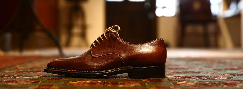 ENZO BONAFE (エンツォボナフェ) 【3720】Plane Toe Dress Shoes プレーントトゥードレスシューズ  CORDOVAN ドレスシューズ  #8(バーガンディー) made in italy (イタリア製)のイメージ