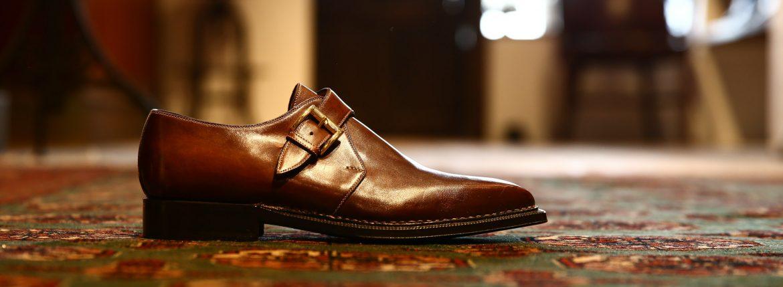 ENZO BONAFE (エンツォボナフェ) 【3721】Single Monk Strap Shoes シングルモンクストラップシューズ  CORDOVAN ドレスシューズ  no4(#4) made in italy (イタリア製)のイメージ