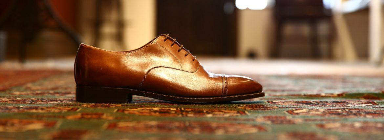 ENZO BONAFE (エンツォボナフェ) 【3773】Punched Cap Toe Shoes パンチドトゥキャップシューズ BETIS NOCEドレスシューズ ANTICATO(ウォルナット) made in italy (イタリア製)のイメージ