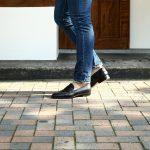 【ENZO BONAFE // エンツォボナフェ】 【ART. EB-08】 Coin Loafer (コイン ローファー) LAMA ラマレザー ドレスシューズ ローファー NERO (ブラック) made in italy (イタリア製) 2017 春夏新作のイメージ