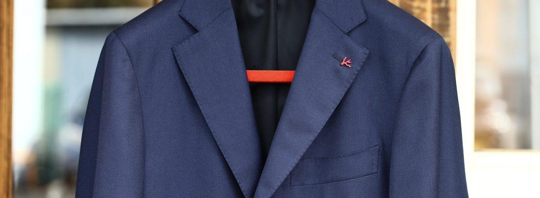 ISAIA (イザイア) SAILOR (セイラー) 130'S AQUA BLAZER 【FABRIC / Wool 100%,LINING Cupro 100%】ウール ホップサック アンコン 3Bジャケット NAVY (ネイビー・800) Made in italy (イタリア製) 2017 春夏新作のイメージ