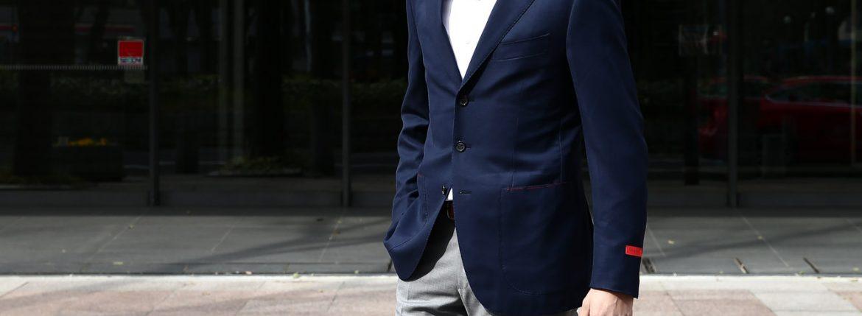 【ISAIA / イザイア】 SAILOR (セイラー) 130'S AQUA BLAZER FABRIC (Wool 100%,INING Cupro 100%) ウール ホップサック アンコン 3Bジャケット NAVY (ネイビー・800) Made in italy (イタリア製) 2017 春夏新作のイメージ