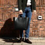 【J&M DAVIDSON /// ジェイアンドエムデヴィッドソン】 OLIVIA TALL(オリヴィア トール) 1364 CALF LEATHER 1364 カーフレザー レザーバック レザートートバッグ BLACK (ブラック・999) Made in spain (スペイン製) 2017 春夏新作のイメージ