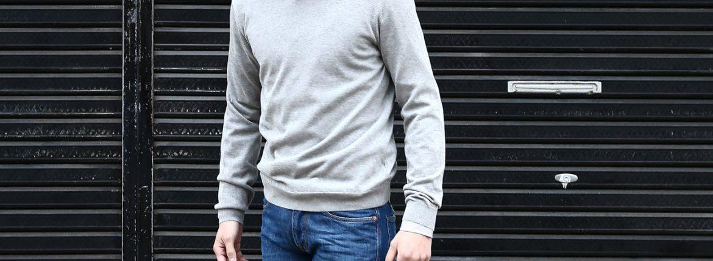 【ZANONE / ザノーネ】 Crew Neck Sweater (クルーネックセーター) コットンニット サマーセーター GRAY (グレー・Z3340) MADE IN ITALY(イタリア製) 2017 春夏新作のイメージ