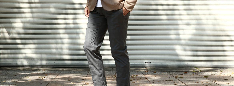 INCOTEX (インコテックス) 1WT13T SLIM FIT Y.D.HIGH C. SUPERLIGHT GALLES コットン ストレッチ グレンチェック スラックス GRAY (グレー・920) 2017 春夏新作のイメージ