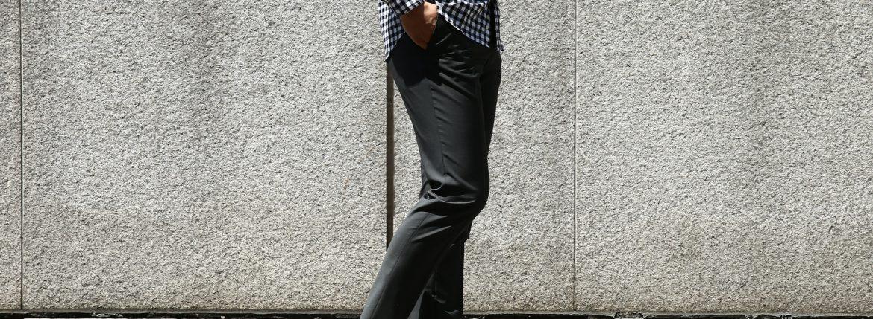 【INCOTEX // インコテックス】 1NT035 SLIM FIT(スリムフィット) Y.D.SUPERFINE CAPE MOHAIR ウール モヘヤ サマーウール スラックス MEDIUM GRAY (ミディアムグレー・930) 2017 春夏新作のイメージ