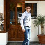 【MONTEDORO / モンテドーロ】 Gilet リネン コットン シャンブレー ジレ ベスト BLUE (ブルー・810) 2017 春夏新作のイメージ