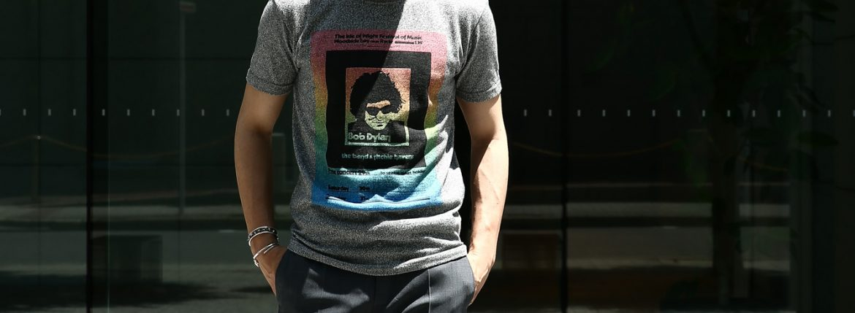 【Worn By / ウォーンバイ】 Isle of Wight Festival 1969 Bob Dylan ボブ・ディラン Official festival poster 復刻オフィシャルライセンスTシャツ ロックTシャツ バンドTシャツ FLINT GREY (フリントグレー) 2017 春夏新作のイメージ