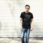WORN FREE (ウォーンフリー) FLIPPER Nirvana ニルヴァーナ Kurt Cobain カート・コバーン 1991 NEW YORK 復刻オフィシャルライセンスTシャツ ロックTシャツ バンドTシャツ BLACK (ブラック) MADE IN USA (アメリカ製) 2017 春夏新作のイメージ