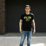 WORN FREE (ウォーンフリー) NEW YORK CITY John Lennon ジョン・レノン 1974 NEW YORK 復刻オフィシャルライセンスTシャツ ロックTシャツ バンドTシャツ BLACK (ブラック) MADE IN USA (アメリカ製) 2017 春夏新作のイメージ
