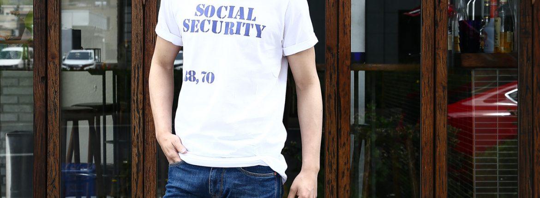 WORN FREE (ウォーンフリー) SOCIAL SECURITY The Clash ザ・クラッシュ Joe Strummer ジョー・ストラマー 1976 LONDON ロックTシャツ WHITE (ホワイト) MADE IN USA (アメリカ製) 2017 春夏新作のイメージ