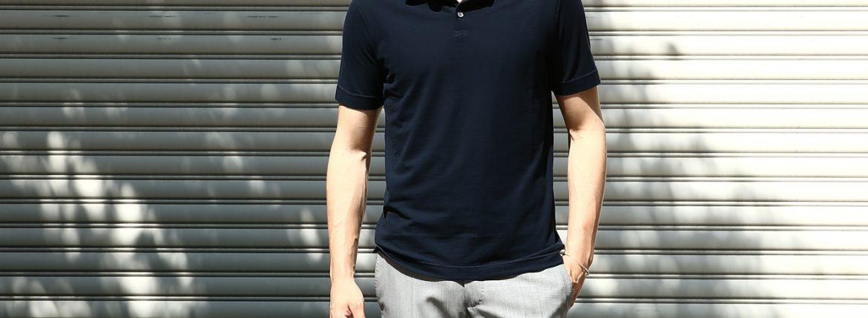 ZANONE (ザノーネ) Polo Shirt ice cotton アイスコットン ポロシャツ NAVY (ネイビー・Z0542)   made in italy (イタリア製) 2017 春夏新作のイメージ