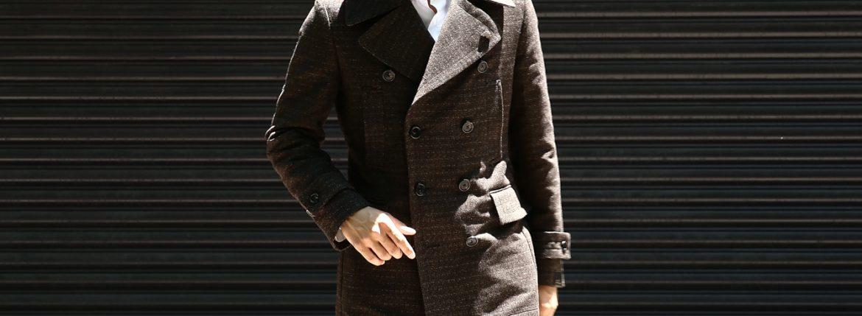 GABRIELE PASINI (ガブリエレ パジーニ) Pea coat ピーコート ウール オーバーコート ミドル丈 ダブルコート BROWN (ブラウン・438) Made in italy (イタリア製) 2017 秋冬のイメージ