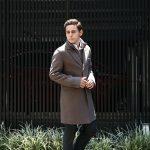 HERNO(ヘルノ) CA0045U Chester coat チェスターコート LANA DIAGONALE NYLON ULTRALIGHT 中綿入り ウールチェスターコート LIGHT BROWN (ライトブラウン・2700) Made in italy (イタリア製) 2017 秋冬のイメージ