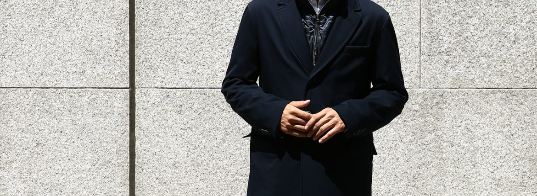 HERNO(ヘルノ) CA0057U Chester coat チェスターコート LoroPiana ロロピアーナ STORM SYSTEM WOOL HERNO TECH 中綿入り ウール チェスターコート NAVY (ネイビー・9290) Made in italy (イタリア製) 2017 秋冬のイメージ