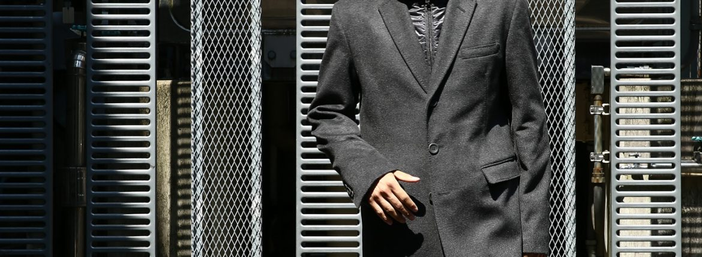 HERNO(ヘルノ) CA0058U Cashmere Chester coat カシミア チェスターコート PIACENZA ピアツェンツァ CASHMERE DROPGLIDE NYLON ULTRALIGHT 中綿入り カシミア チェスターコート CHARCOAL (チャコール・9400) Made in italy (イタリア製) 2017 秋冬のイメージ